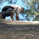 Rock climbing at Tekhla