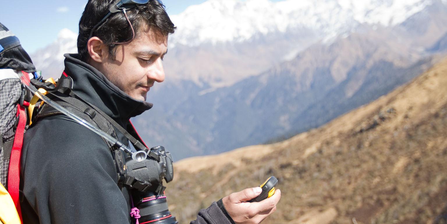Using the Garmin E-trex 10 while trekking in the Himalaya