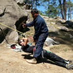 Learning one-man rescue techniques