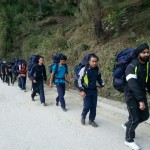 7 km to Tekhla climbing area with a loaded pack