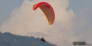 Archive image: tandem paragliding in Billing, Himachal