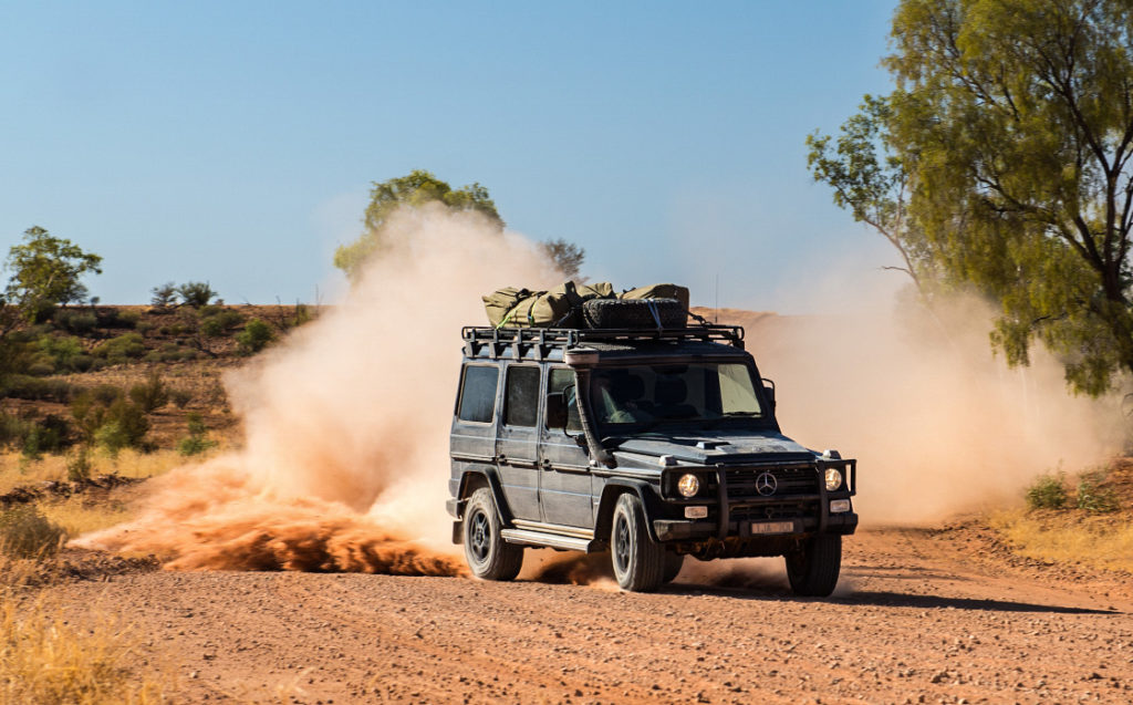 Dashing through the Simpson Desert desert. Photo: Alex Rae