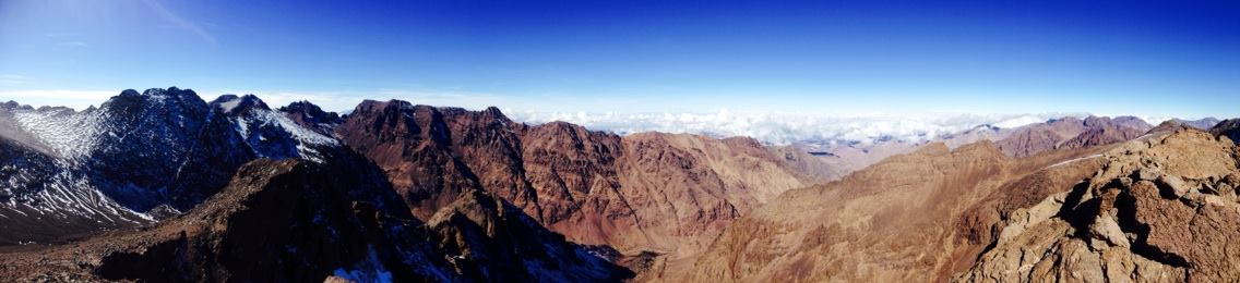 Hiking up the Atlas Mountains, Morocco