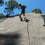 Front rappelling