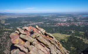 living in Boulder, Colorado