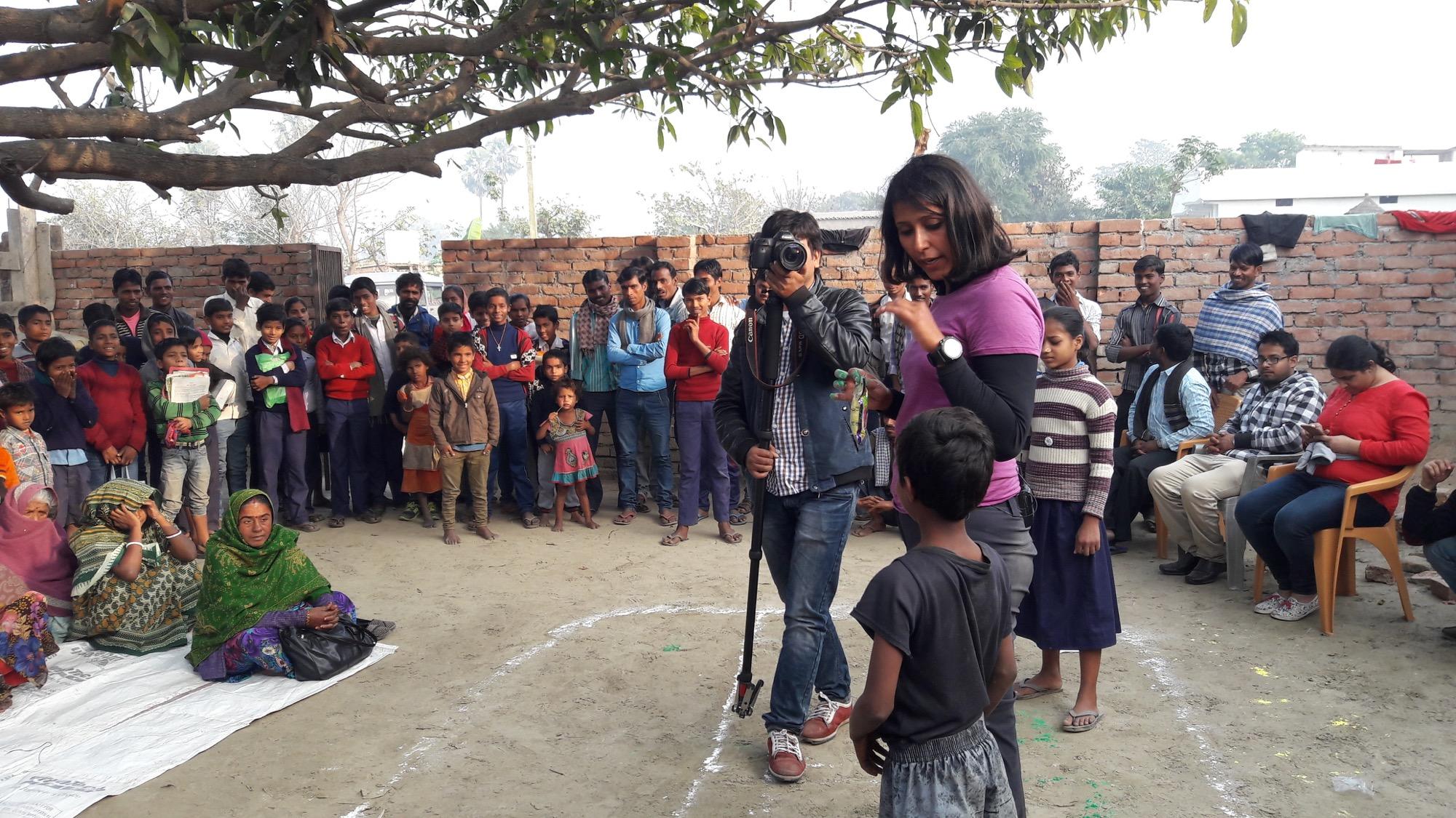 Shilpika talks about sanitation in Harpur, Saidabad (near Patna),where WaterAid has an ongoing project. Photo © Kumaran Mahalingam