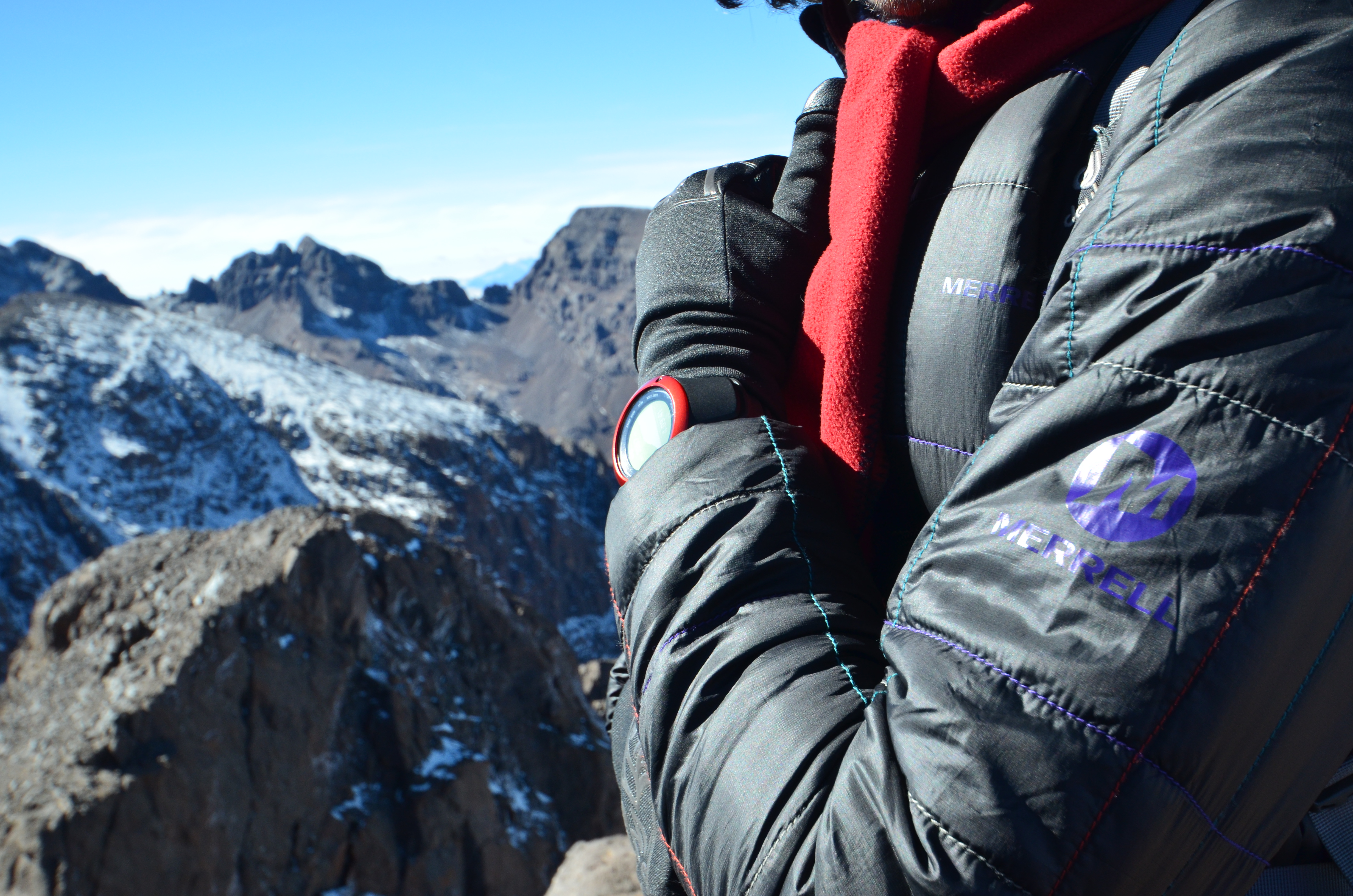Checking the altitude with a Suunto Ambit 2S