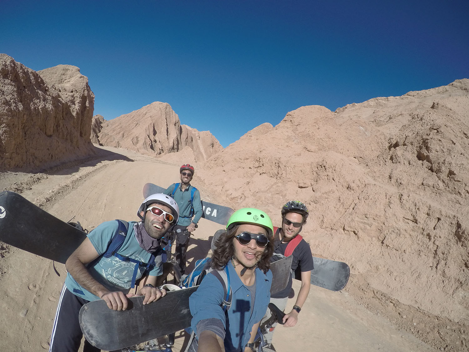 Sandboarding in the Atacama.
