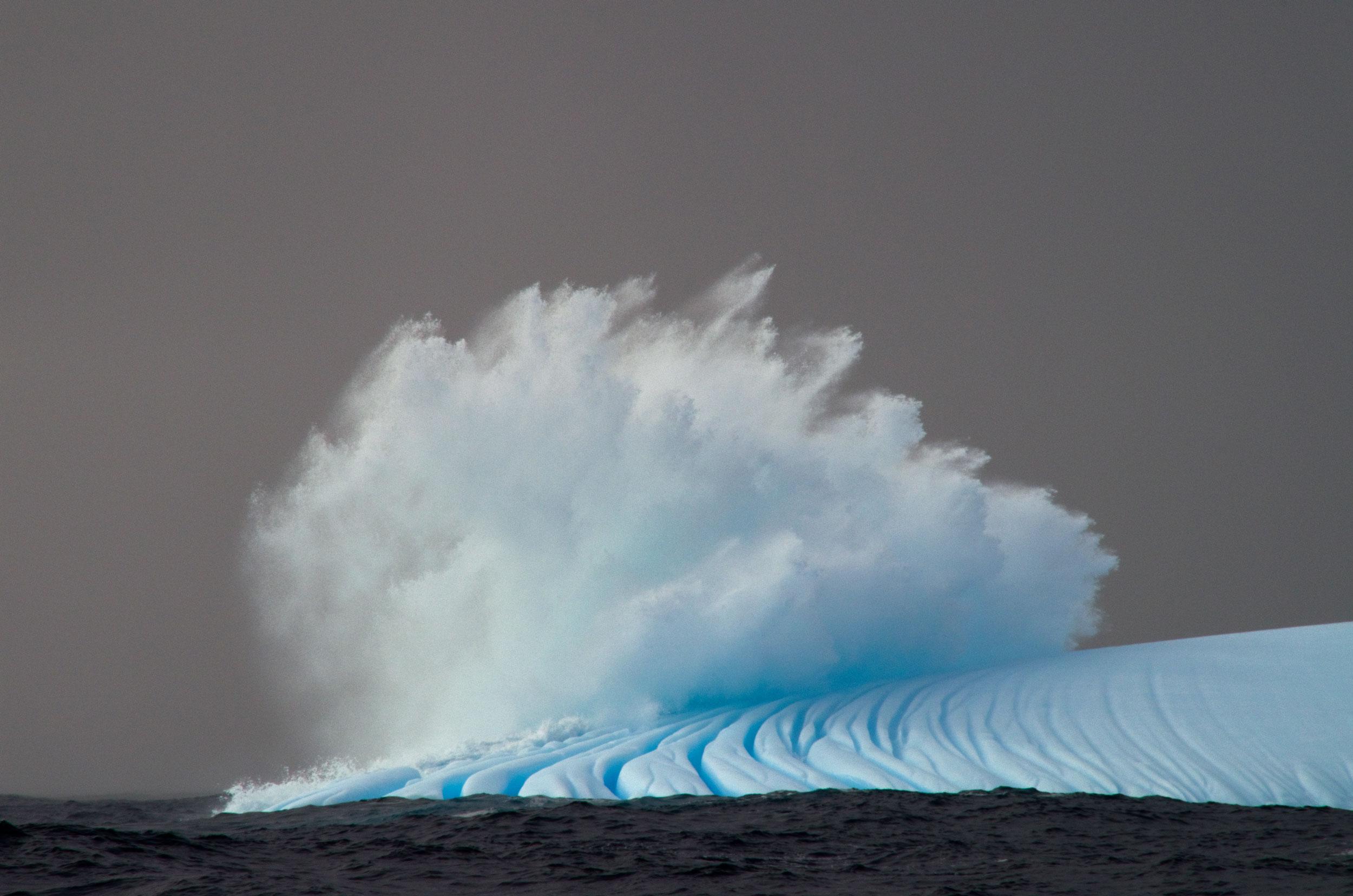 Iceburg and sea-spray. Photo: Nico Edwards
