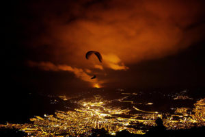 KrystleWright-This is Spanish paraglider Horacio Llorens sweeping over the streets of Medellín
