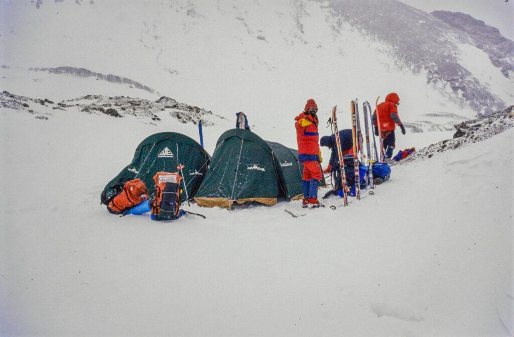 Roland and Paramjeet on the Trans Himalayan Ski Traverse