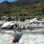 River crossing with the casualty