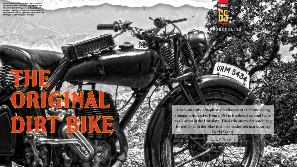 The Original Dirt Bike – Riding a Vintage Norton in the