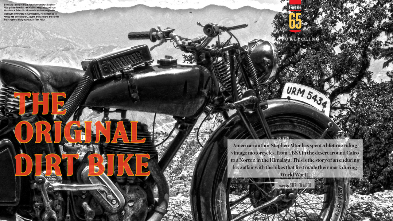 Excursion into history: a motorcycle caterpillar