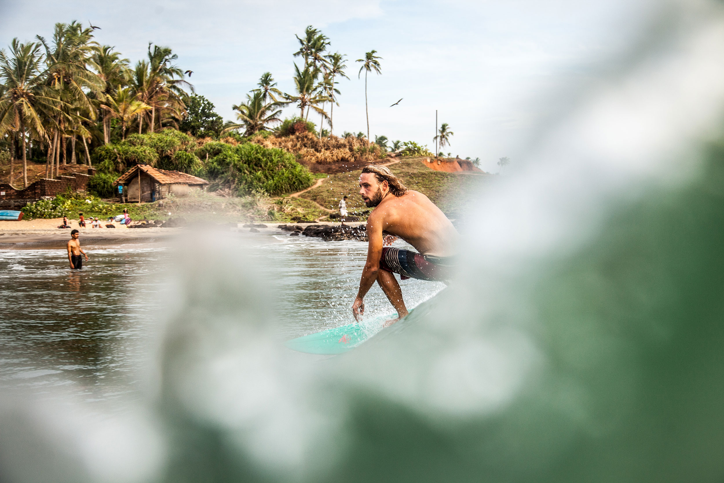 Joshua Stenning, from England is one of the founders of the Sunday Surf Club in Kerala, where young Indians are taught how to surf. PHOTO: Berta Tilmante