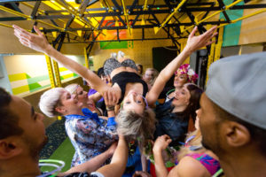Gymbox and Stubhub create a festival fitness class.